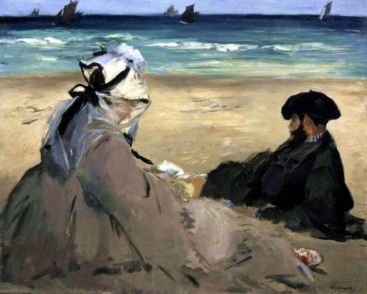 manet sur la plage (1873)