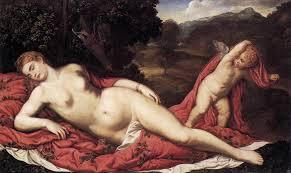Vénus endormie et cupidon