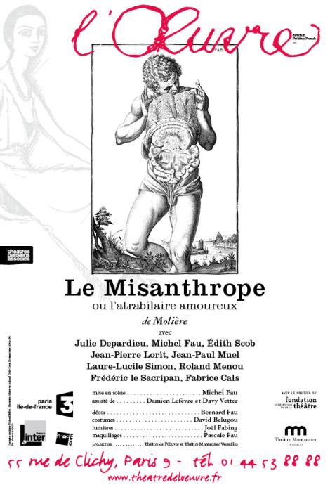 Le Misanthrope théâtre de l'œuvre