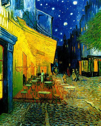 Vincent Vn Gogh - La terrasse du café, place du Forum à Arles, la nuit
