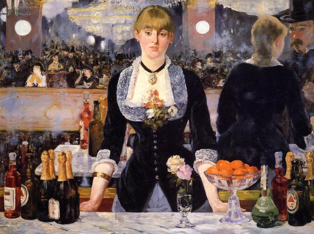 Edouard Manet un bar aux folies bergères
