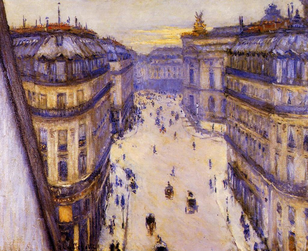 Gustave caillebotte Rue Halévy, vue du sixième étage