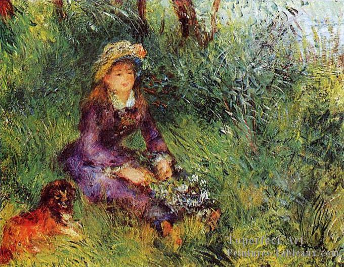 Renoir madame renoir et son chien