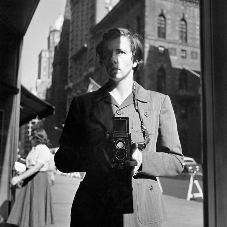 Vivian Maier, Self-Portrait; October 18, 1953, New York, NY