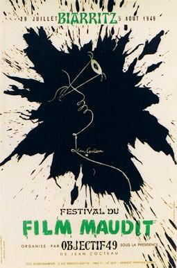 Jean Cocteau - Affiche Festival du Film Maudit