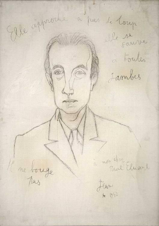 Jean Cocteau - Portrait de Paul Eluard