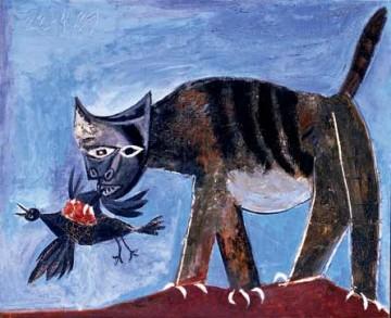 Picasso - Chat saisissant un oiseau, Paris, 22 avril 1939