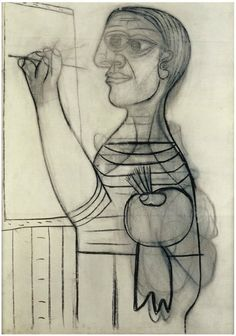 Picasso - L'artiste devant sa toile, Paris, 9 janvier 1935
