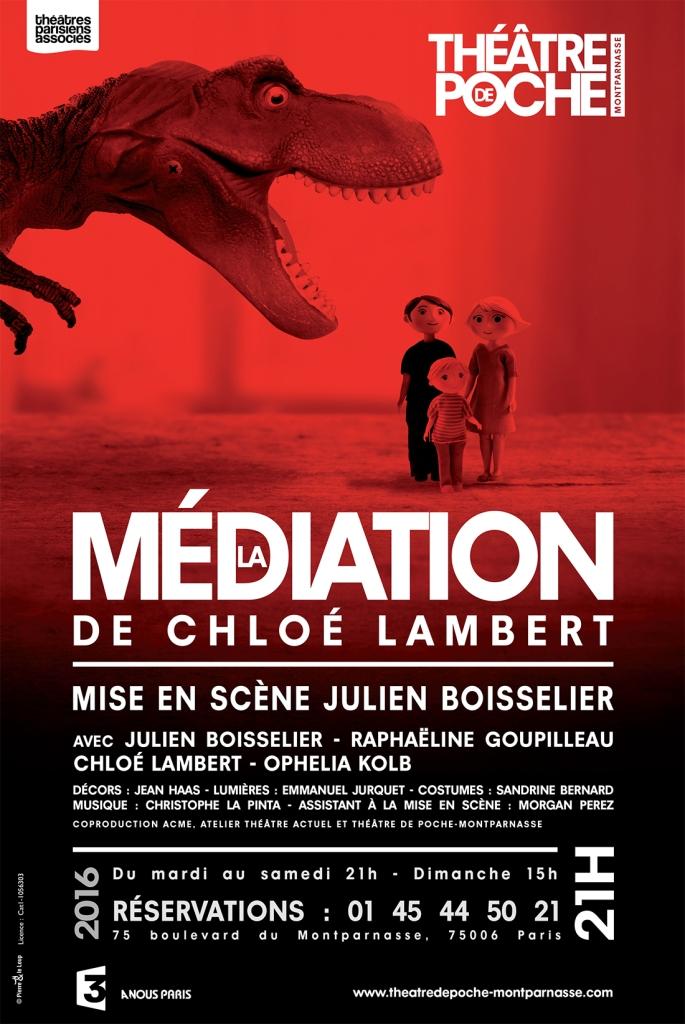 Théâtre de Poche Montparnasse - affiche la médiation