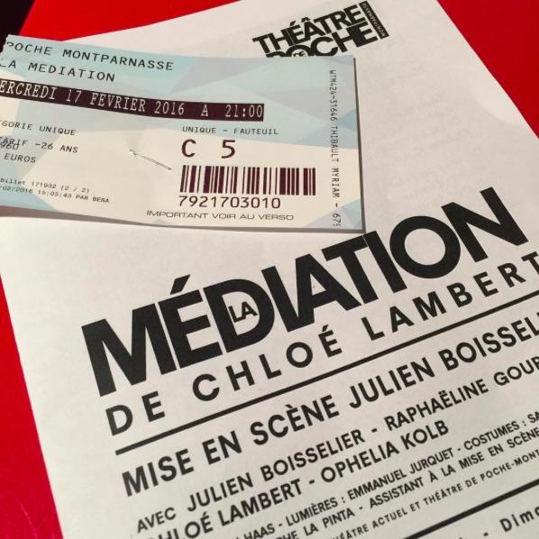 Théâtre de Poche Montparnasse - La Médiation