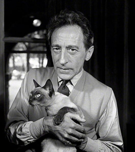 Cocteau et son chat Karoum
